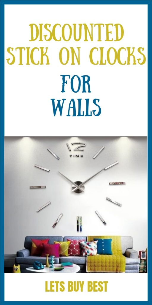 Discounted Stick on Clocks for Walls