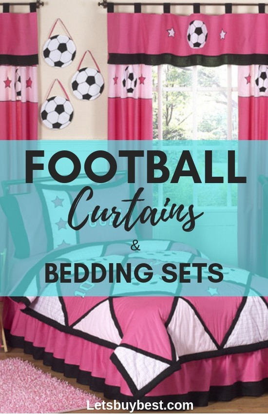 football curtains and bedding
