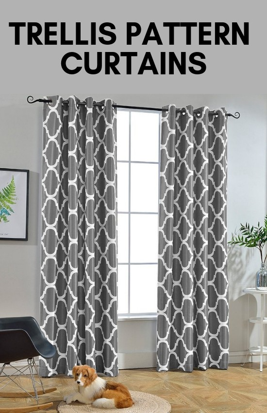 Ttrellis Pattern Curtains