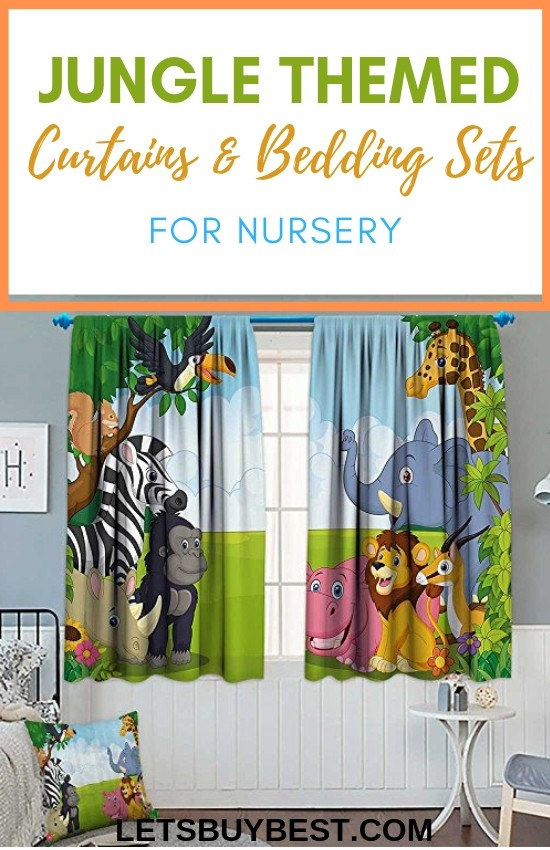Jungle Themed Curtains and Bedding Sets
