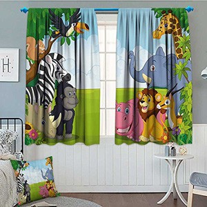 Jungle Themed Curtains and Bedding Sets for Nursery